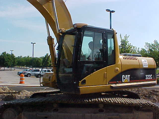 Brent Ormsby operating an excavator at Ball State