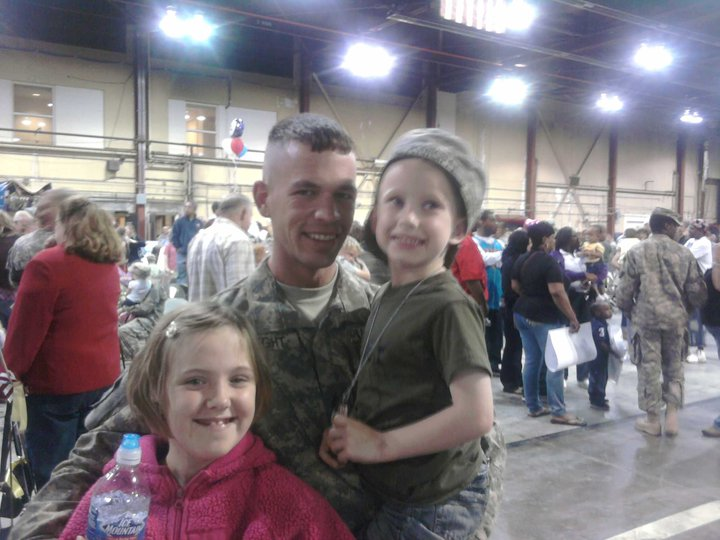 James Knight returned home from his deployment in Iraq