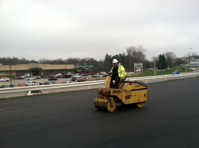 Jerry Wilson rolling a parking lot in Richmond