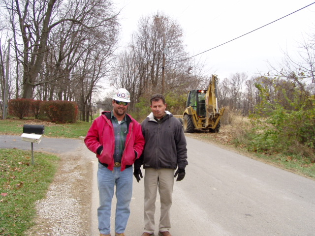 Jim Teeters and John Ballard near the Rockies Express Pipeline jobsite