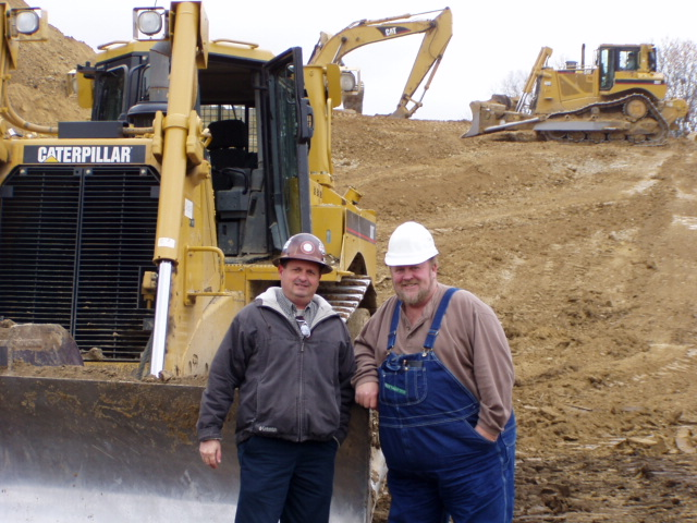 John Ballard and Chris Cottom at the Rockies Express Pipeline jobsite