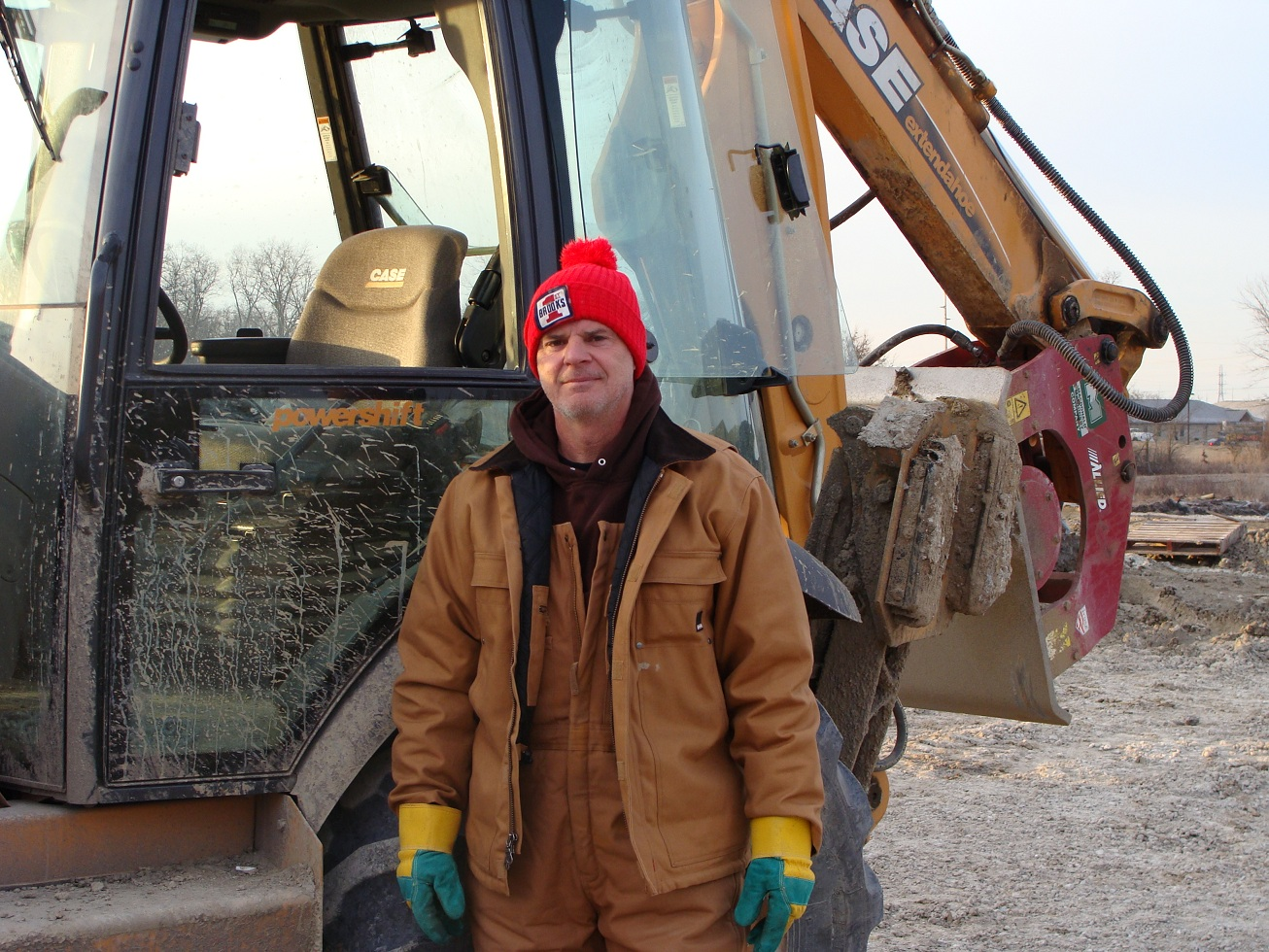 Pat Stoner working for Grand Excavating on Diebold Road in Fort Wayne
