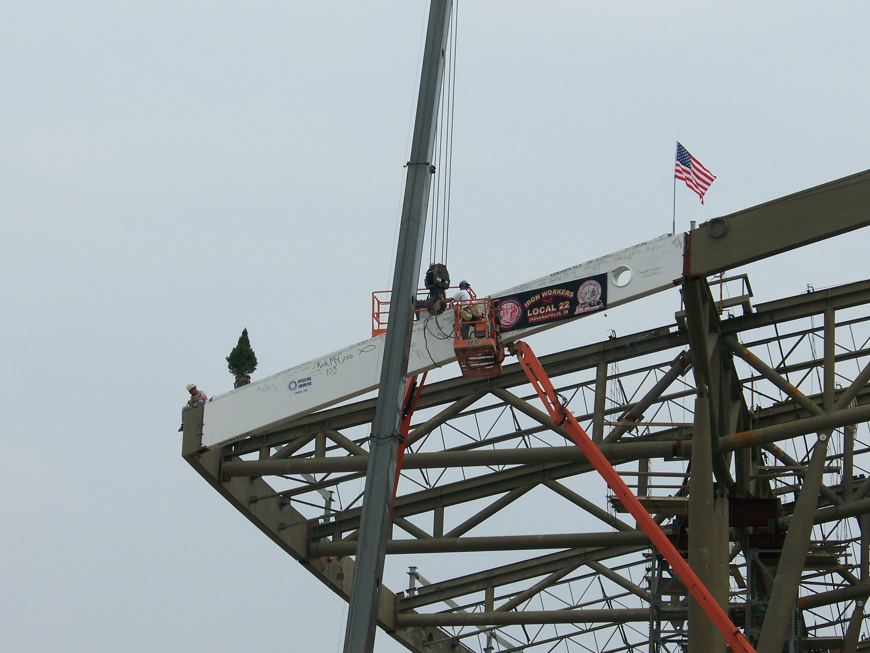 The Topping Out Ceremony at the Indianapolis Airport