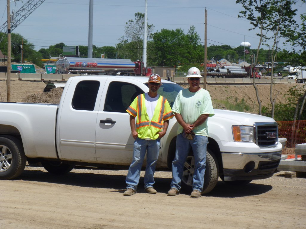 Tony Politan and Claude Proffitt on 465 project for Maxim Crane